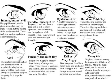 Eye Types By Manic-goose On Deviantart