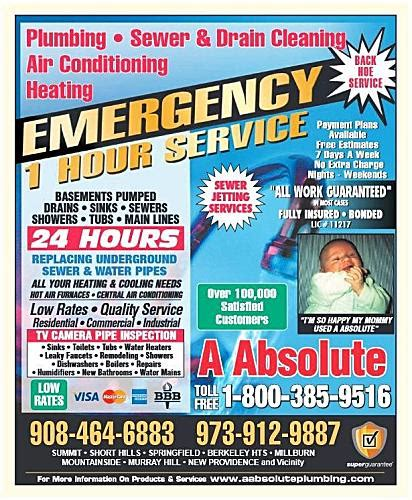 absolute plumbing nj a absolute plumbing in colonia nj 07067 silive