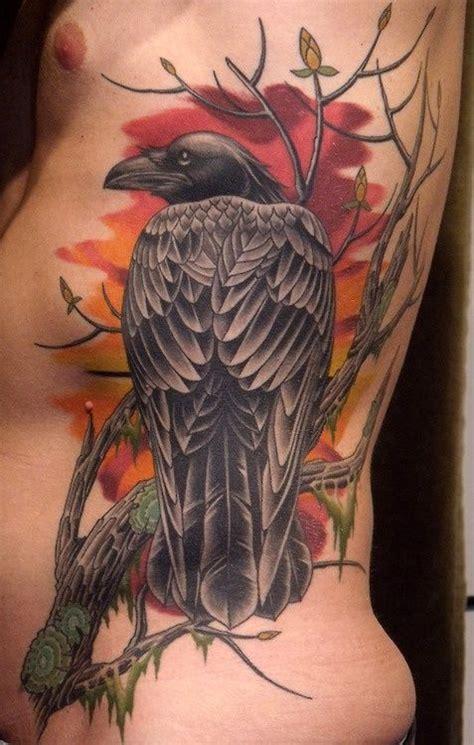Tatuajes de cuervos : poderes y simbolismo Tatuaje de
