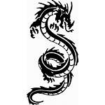 Dragon Tribal Tattoo Clip Clipart Chinese Transparent