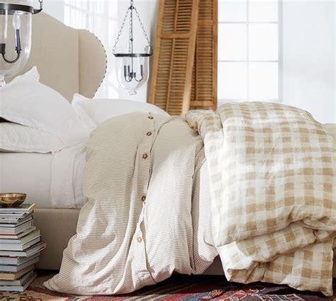 Check Duvet Cover by Blue Rhett Check Organic Percale Patterned Duvet Cover