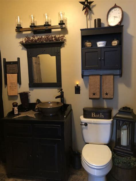 primitive bathroom decor ideas  pinterest