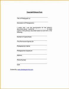 10 copyright release form cashier resume for Photographer copyright release form template