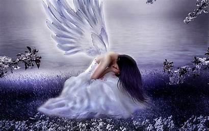 Angel Sad Guardian Dark Wallpapers Angels Depression