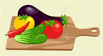 Vegetables Cutting Clipart Chopping Board Clipground Cliparts