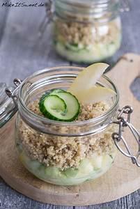 Salatbox Zum Mitnehmen : quinoa apfel gurke salat im glas rezept ~ A.2002-acura-tl-radio.info Haus und Dekorationen