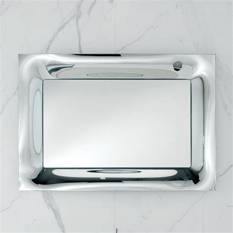 arin bathroom mirror  silver melted glass frame