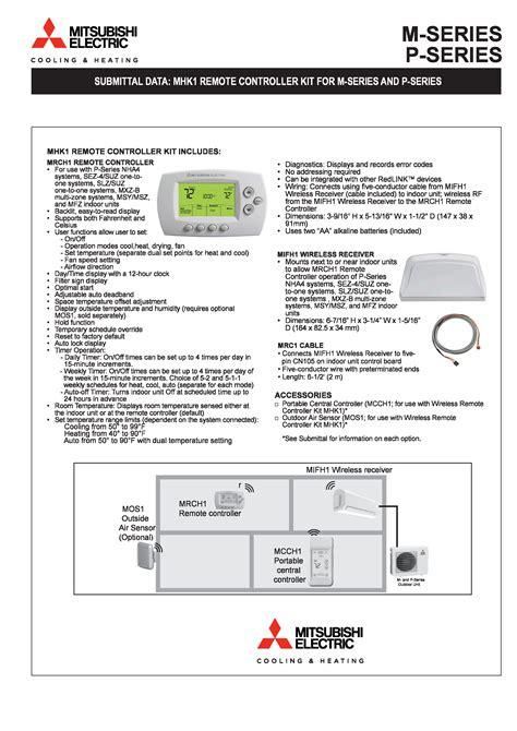 Mitsubishi Wireless Thermostat by Mini Split Mitsubishi Wireless Wall Mounted Thermostat Mhk1