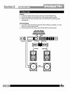 Driverack  Application Guide  3 Stereo 2