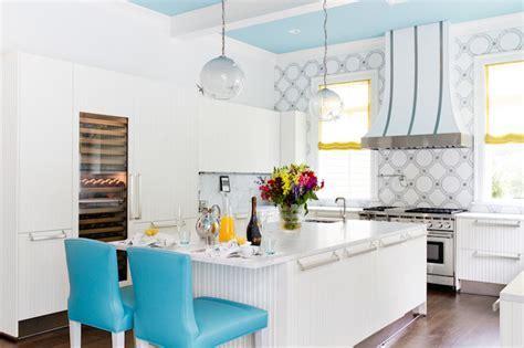 Turquoise Bar Stools   Contemporary   kitchen   Duneier Design