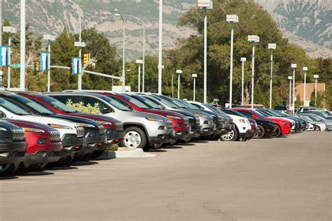 Row Of Cars At A Car Dealership