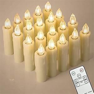 Led Bild Kerzen : 20stk led kerzen aus echtwachs fernbedienung timer und ~ Frokenaadalensverden.com Haus und Dekorationen