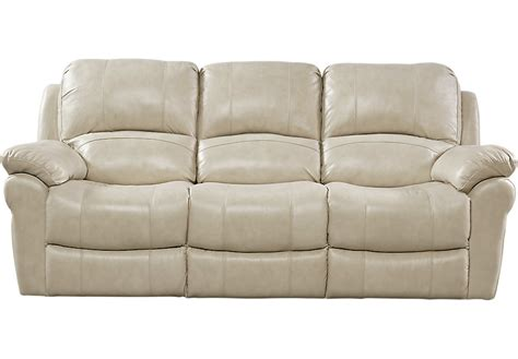 beige leather reclining sofa vercelli stone leather power reclining sofa reclining