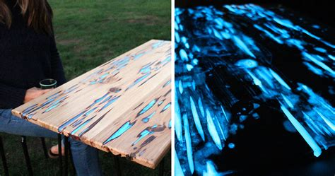 awesome diy table  glow   dark resin