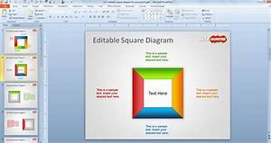 Free Editable Square Diagram For Powerpoint