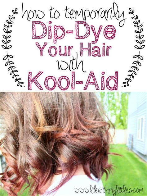 How To Dip Dye Your Hair With Kool Aid Coloring Kool