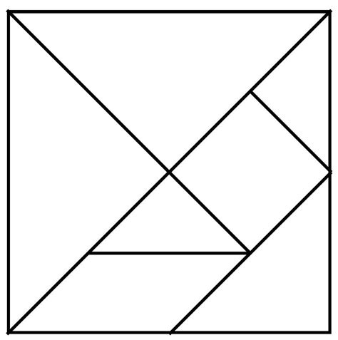 tangram template tangram refor 231 o de matem 225 tica