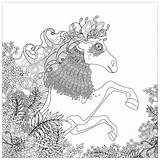Coloring Horse Pages Horses Floral Elements Adults Adult Printable Justcolor Zentangle Patterns Simple Nature Animals Getcolorings sketch template