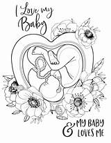 Pregnant Coloring Pages Printable Birth Pregnancy Affirmations Positive Mama Affirmation Self Care Mom Myshopify Help sketch template