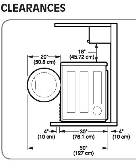 how to install countertop washer and dryer dryer