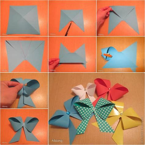 diy simple  easy paper gift bow usefuldiycom