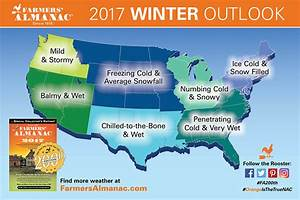 Farmers' Almanac Winter Weather Predictions 2016 - 2017 ...