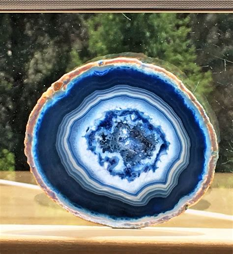 what color is agate agate geode slab slice large blue color 3 5 x