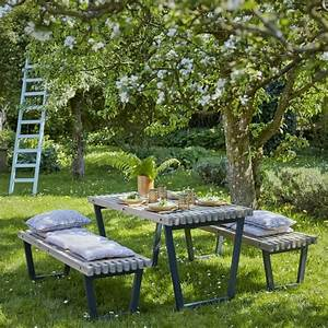 Emejing Table De Jardin Lattes Bois Photos Awesome