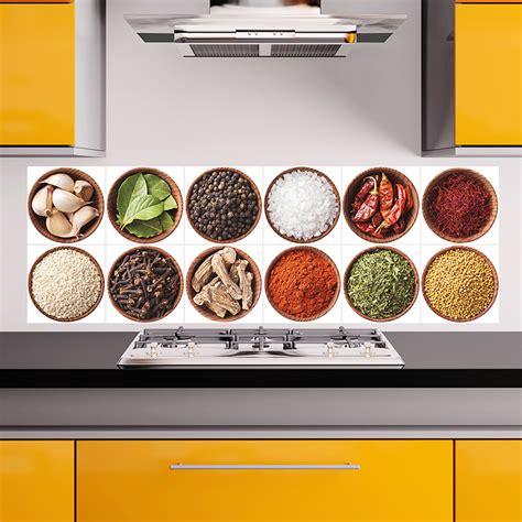la cuisine des epices sticker pour carrelage les épices stickers cuisine