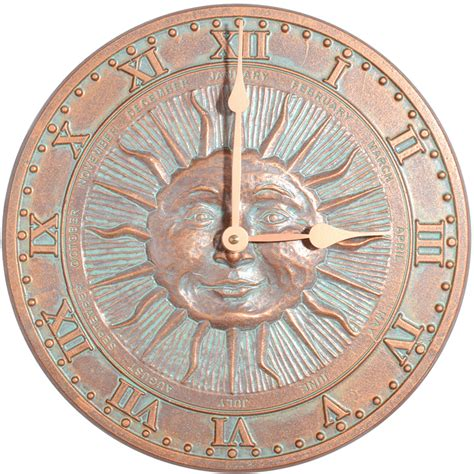 whitehall products wh01289 12 quot diameter sunface clock