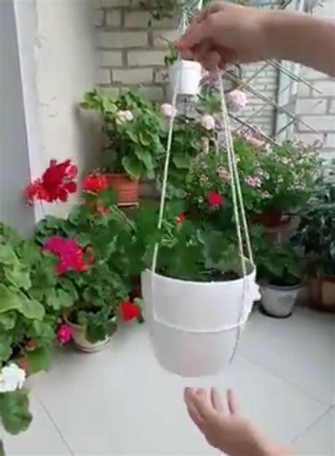 เทคนิค!! ผูกเชือกแขวน กระถางดอกไม้