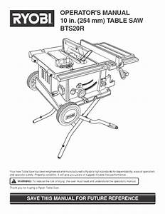 Table Saw Manuals