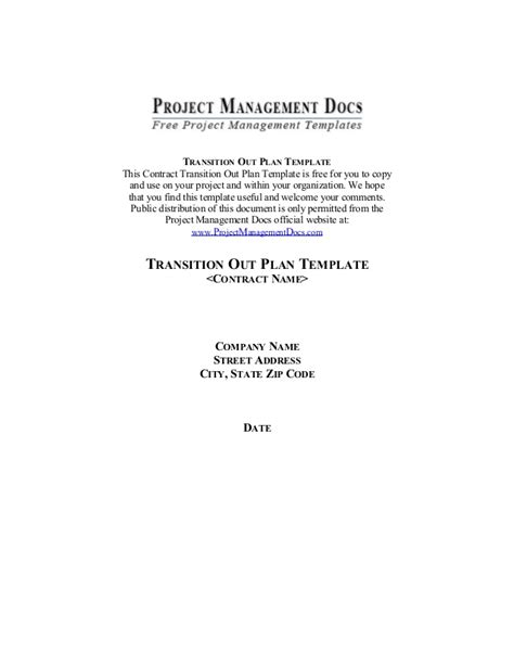 contract transition out plan template contract transition plan template gallery template