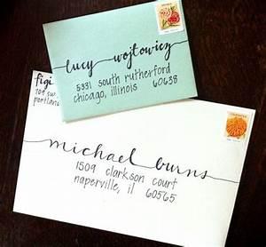 hand lettered custom addressed envelope With hand lettered envelopes