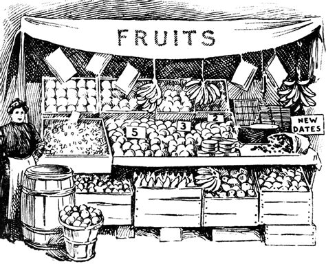 grocery clipart black and white market clipart black and white pencil and in color