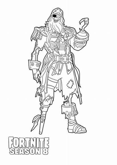 Draw Fortnite Season Coloring Blackheart Max Pages