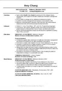 entry level database resume sle resume for entry level sales