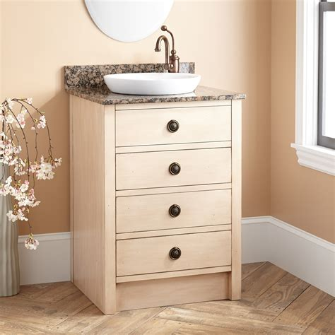 thornwood vanity  semi recessed sink antique