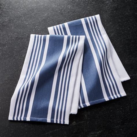 cuisine stripe indigo blue dish towels set   reviews