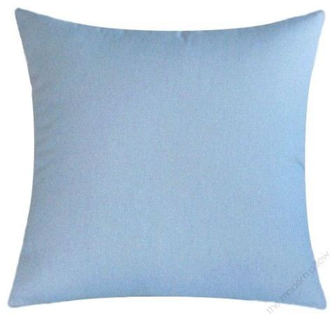 light blue solid cotton decorative throw pillow cover