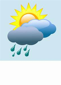 Weather Forecast Partly Sunny With Rain Clip Art at Clker ...