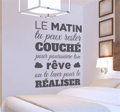 stickers chambre adulte sticker mural texte matin tenstickers