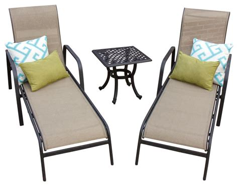bay 2 person sling patio chaise lounge set with