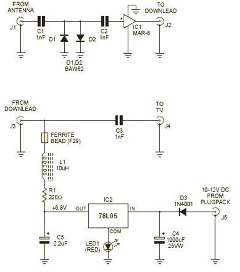 simple rf lifier using vhf and uhf mar 6 wiring diagram
