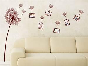 Tattoos Für Die Wand : das wandtattoo fotorahmen pusteblume im wind bei ~ Articles-book.com Haus und Dekorationen