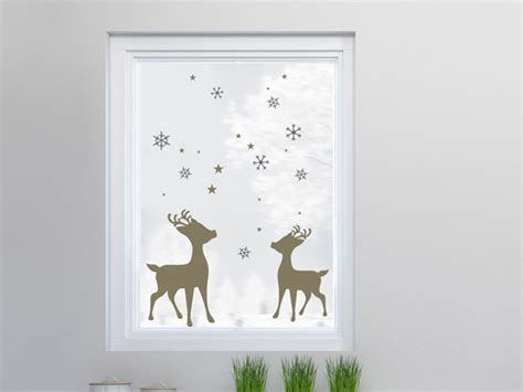 Fensterdeko Weihnachten Rentier by Wandtattoos Als Selbstklebende Fensterbilder Zu Weihnachten