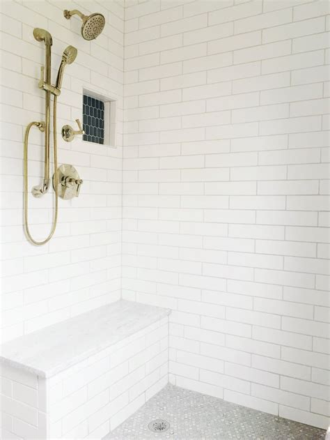 white subway tile    master bathroom renovation