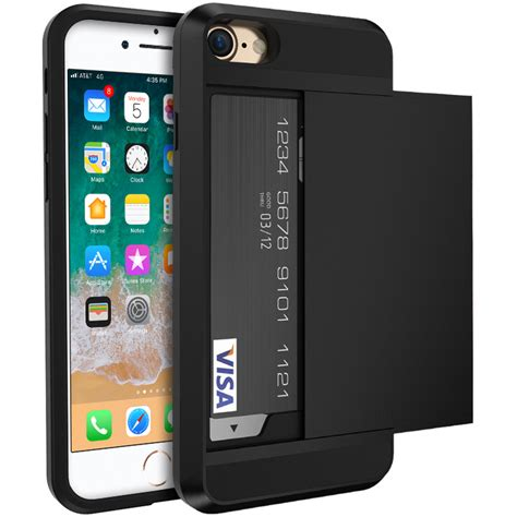 Tough Armour Card Holder Case - Apple iPhone 8 / 7 (Black