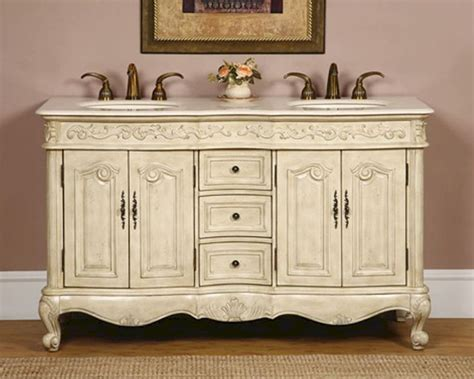 silkroad  double bathroom vanity crema marfil top