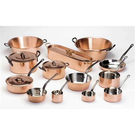 batterie cuisine cuivre série de 5 casseroles en cuivre de marque baumalu